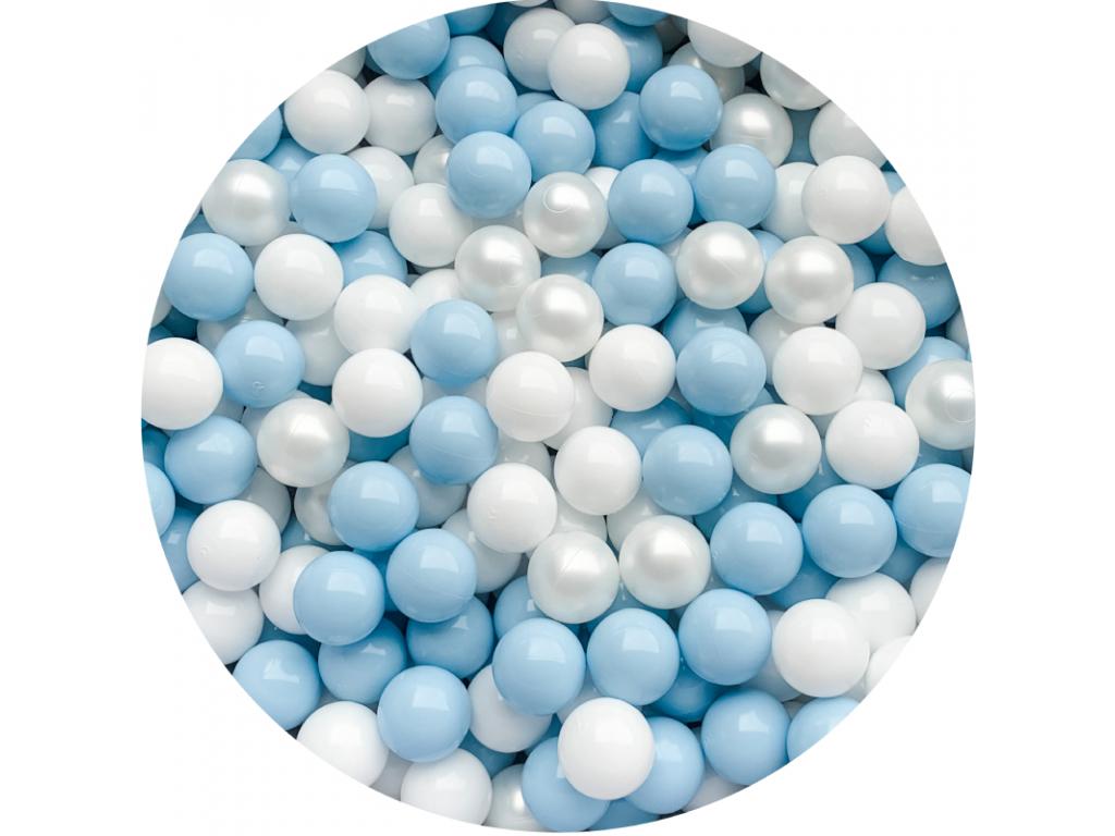 Plastové míčky pro děti BLUE / PEARL