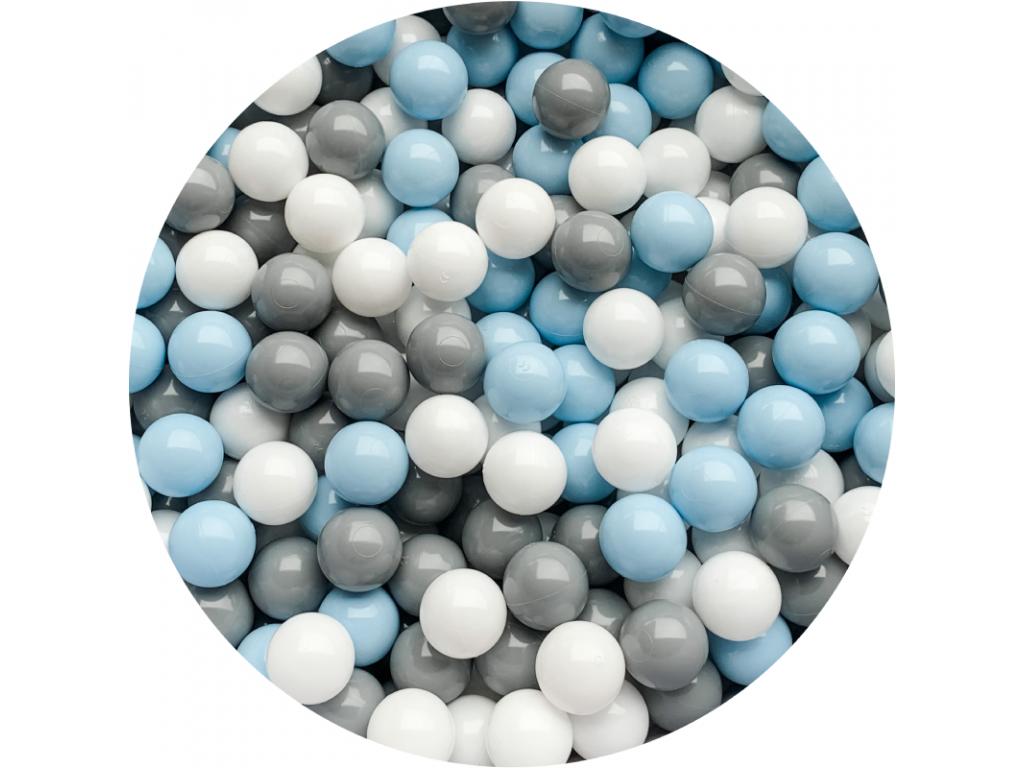 Plastové míčky pro děti BLUE / GREY