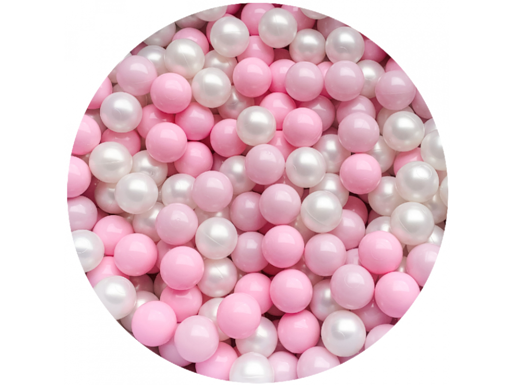 Plastové míčky pro děti PINK / PEARL