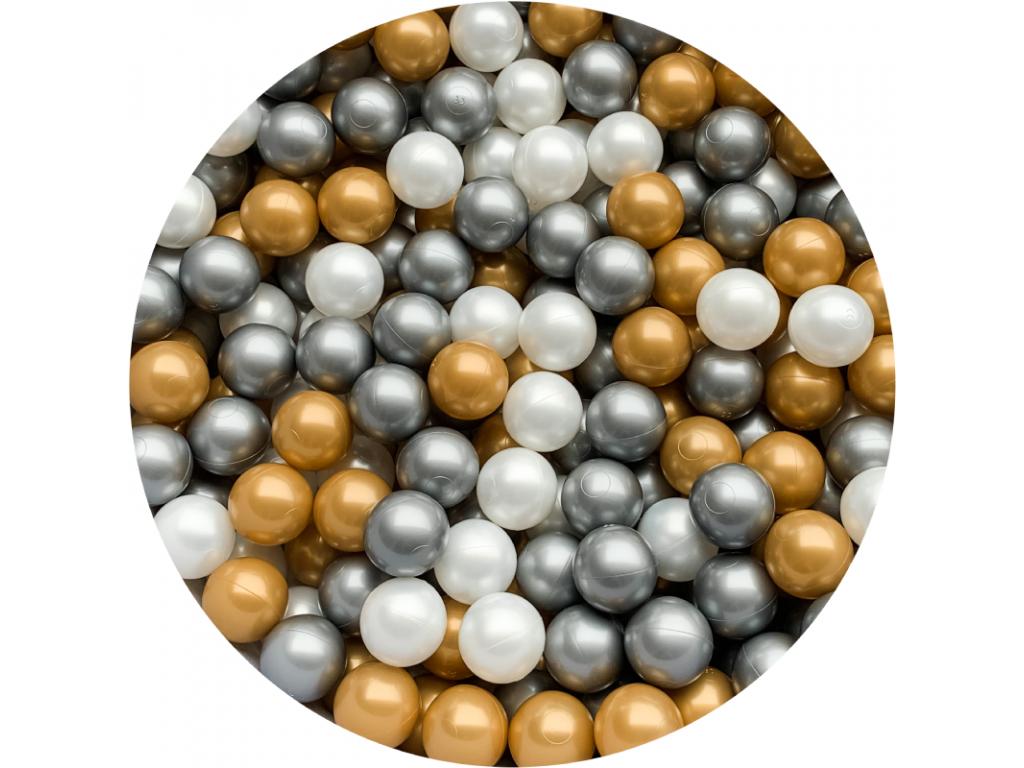Plastové míčky pro děti GOLD / BLACK