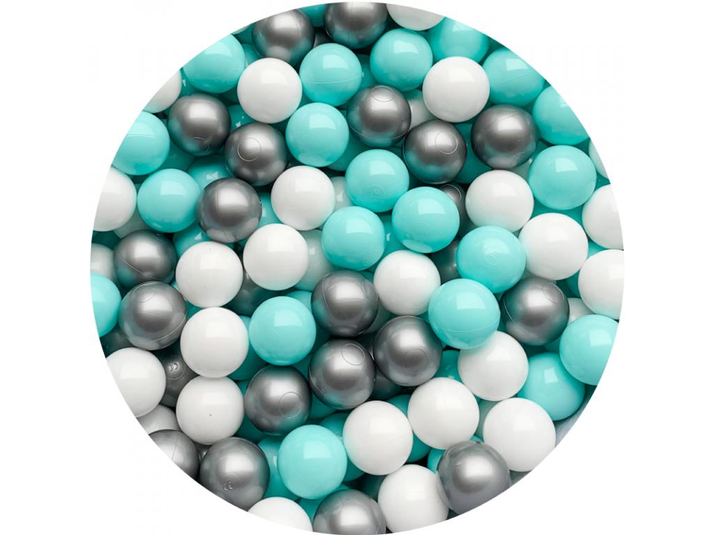 Plastové míčky pro děti MINT / SILVER