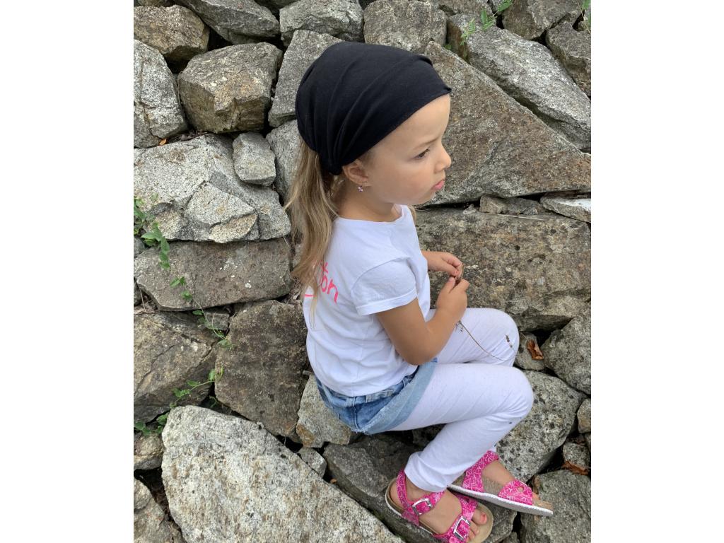 Šátek na hlavu / čelenka BLACK