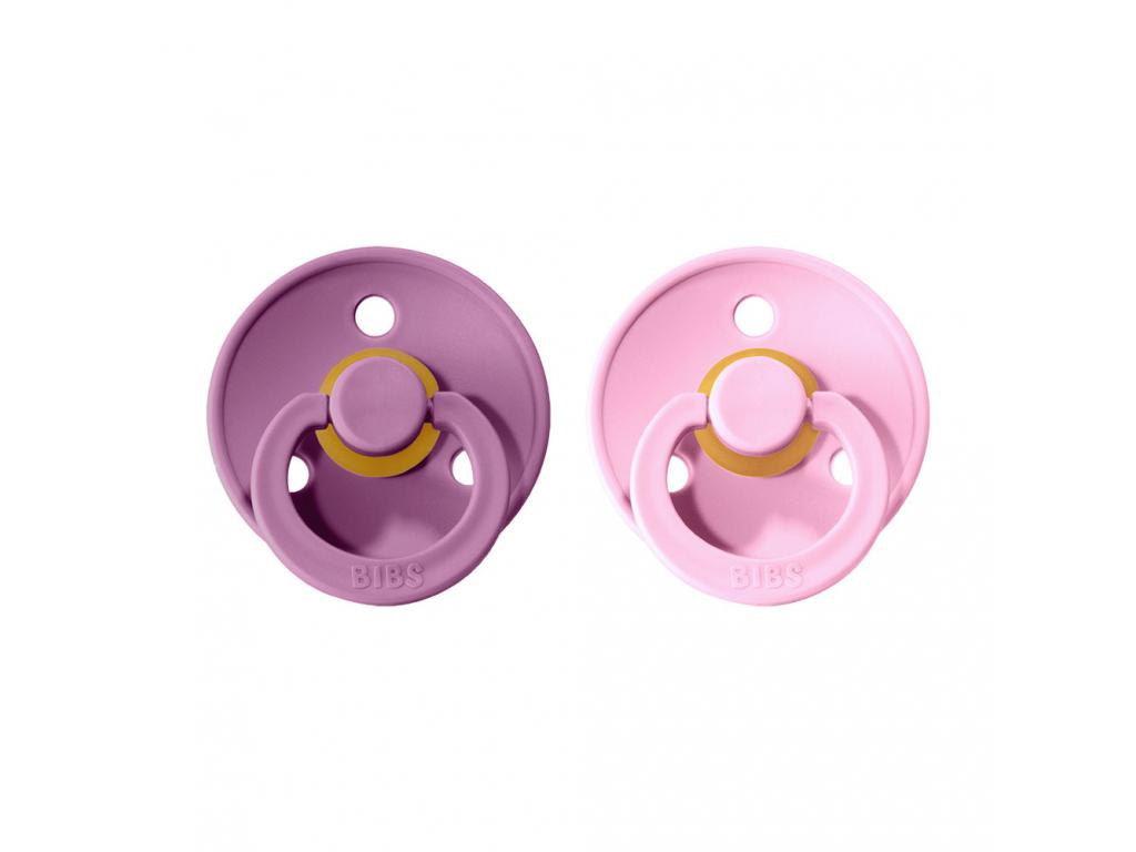 BIBS Colour cumliky z prirodneho kaucuku 2ks Lavender+BabyPink
