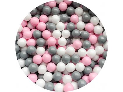 Plastové míčky pro děti PINK GREY