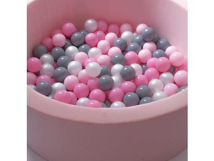Suchý bazének pro děti PINK + míčky PINK/GREY