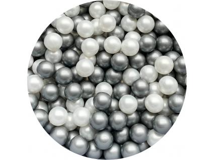 Plastové míčky pro děti SILVER / BLACK