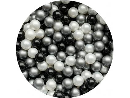 Plastové míčky pro děti SILVER / WHITE