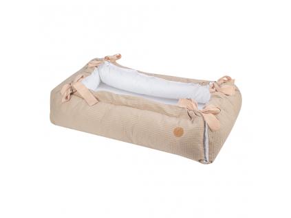 Obdélníkové hnízdečko pro miminko DELUXE BEIGE