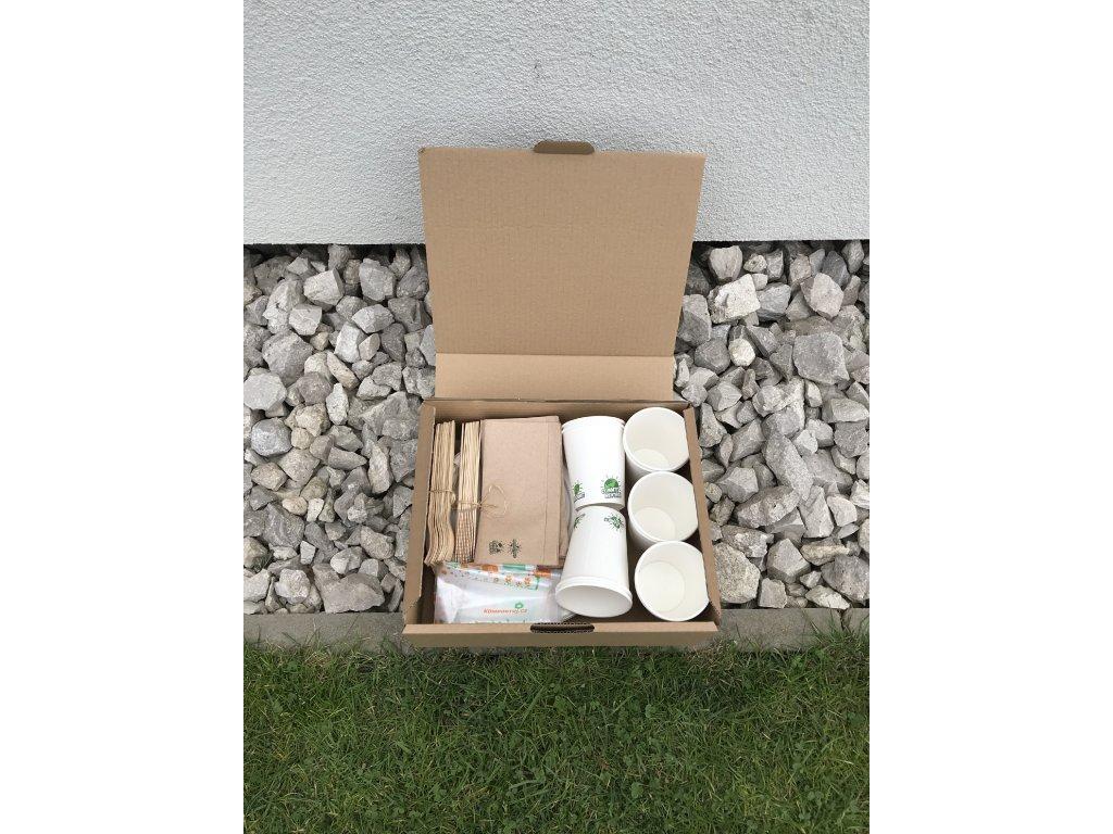 Kompostovateľný gril box pre 10 ľudí