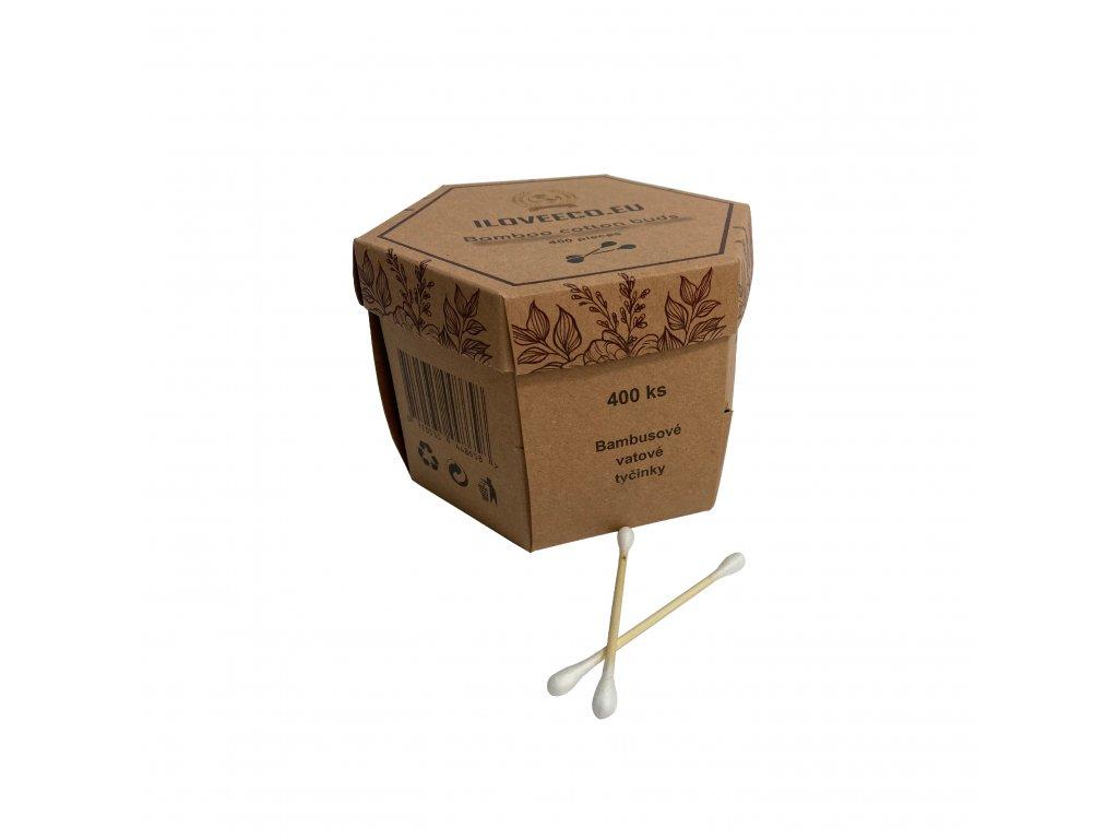 Bambusové vatové tyčinky do uší 400ks