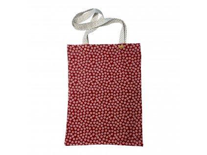 Bavlnená textilná taška - červená