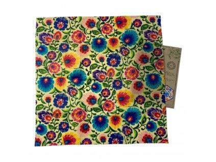 Voskový obrúsok 50x50 Kvety