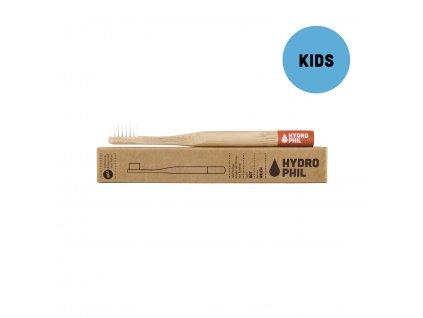 Bambusová kefka pre deti červená