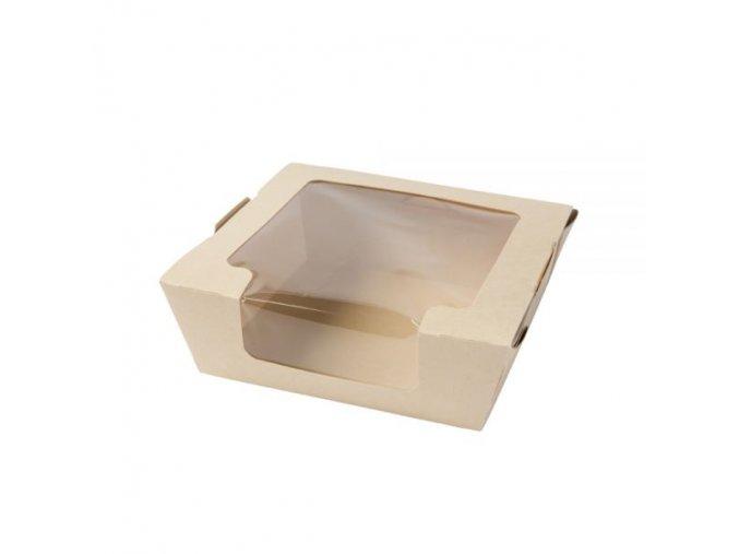 DFC08105 Tree Free Sichtfenster Schachteln 800 ml ungebleicht PLA beschichtet quadratisch 1 600x600