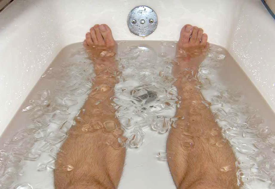 Naložte své svaly po běhu do vany