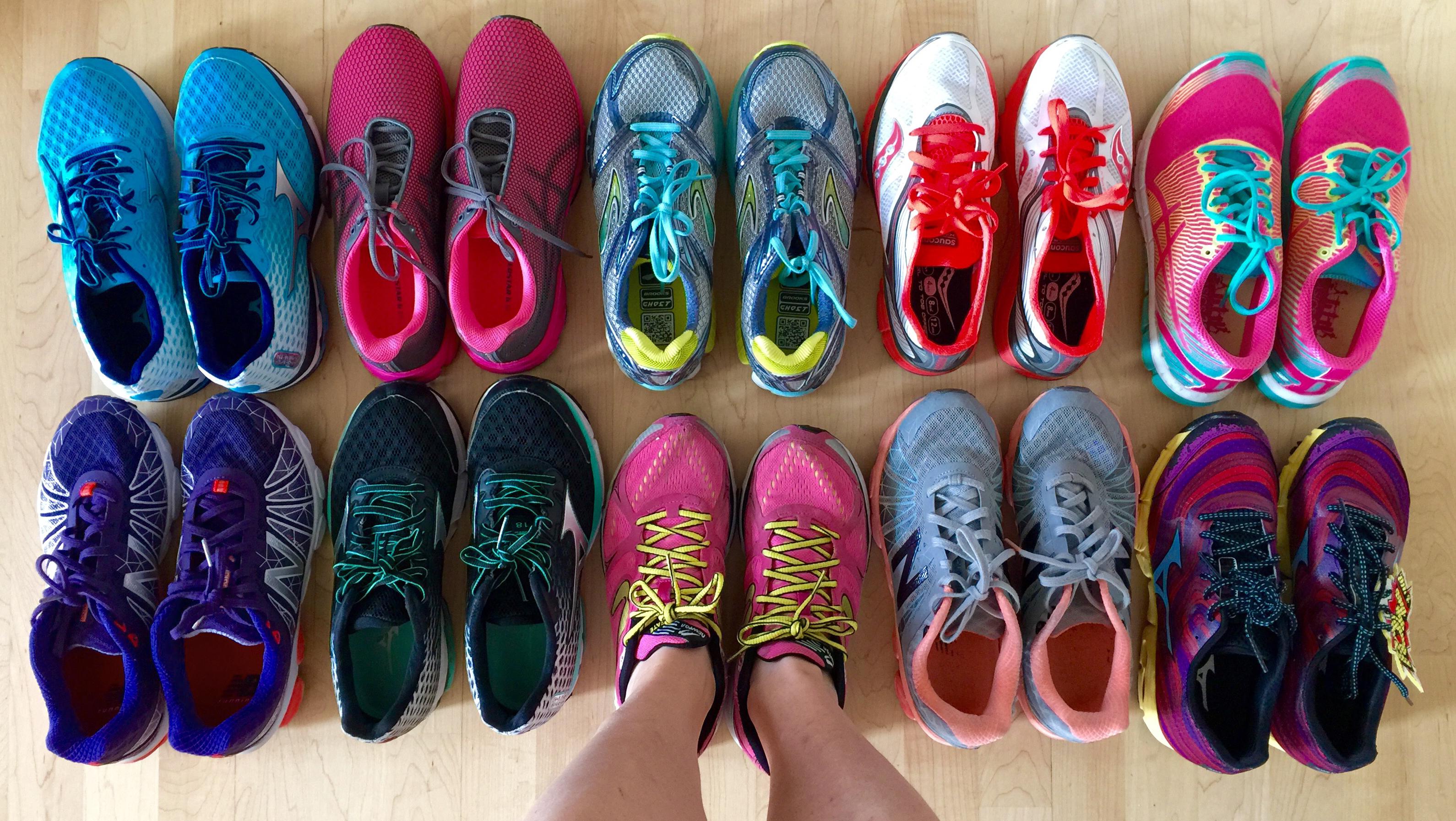 Střídání běžecké obuvi