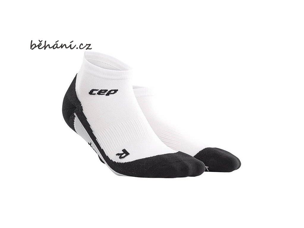 CEP dámské kotníkové běžecké kompresní ponožky - bílá / černá (Velikost IV (39-44 cm obvod lýtka))