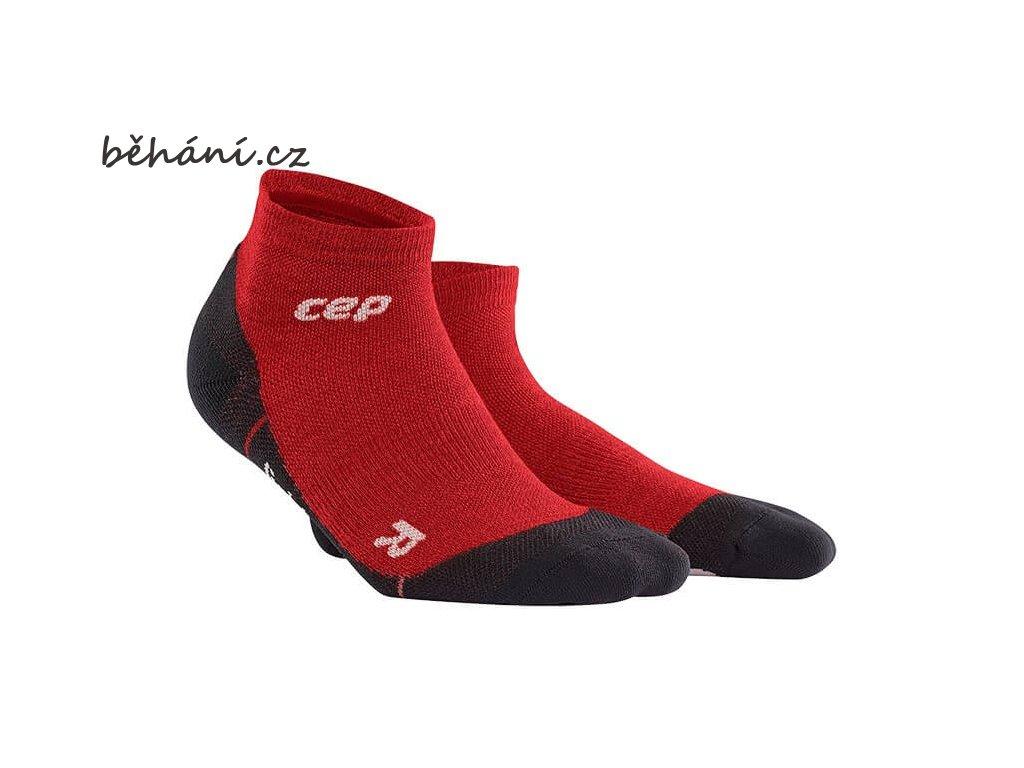 CEP dámské outdoorové kompresní kotníkové ponožky ULTRALIGHT MERINO - deep magma (Velikost IV (39-44 cm obvod lýtka))