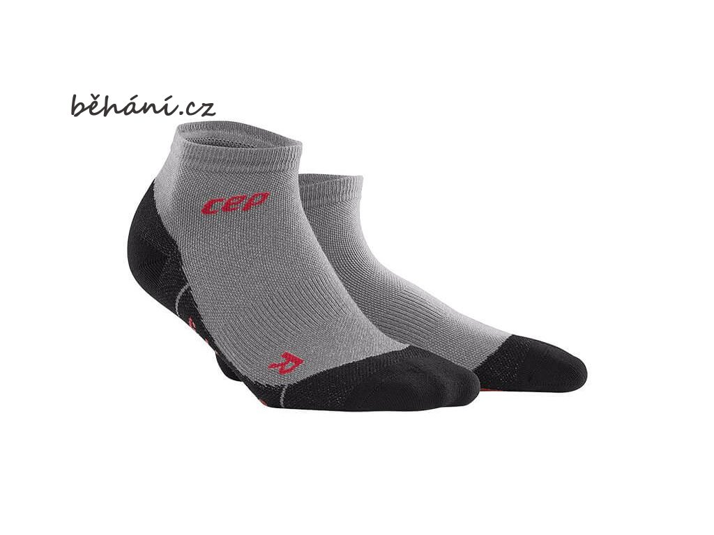 CEP pánské outdoorové kompresní kotníkové ponožky ULTRALIGHT MERINO - volcanic dust (Velikost V (45-50 cm obvod lýtka))