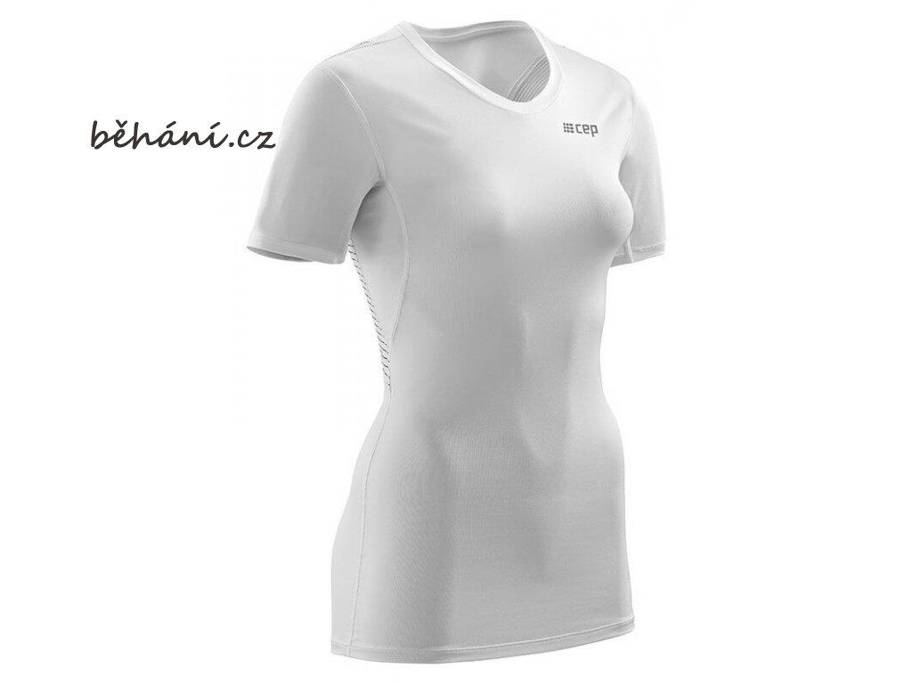 CEP dámské tričko WINGTECH s krátkým rukávem - bílé (Velikost textilu XL)