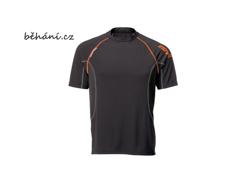 Běžecké tričko INOV-8 BASE ELITE 140 black/orange (Velikost textilu XXL)