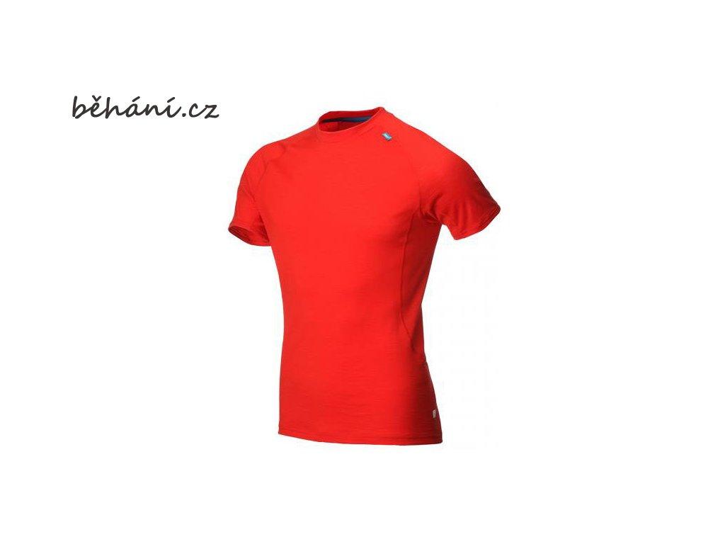 Běžecké tričko INOV-8 AT/C MERINO SS red/blue (Velikost textilu XL)