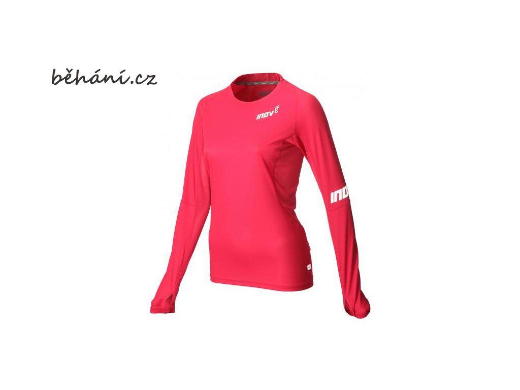 Běžecké tričko INOV-8 AT/C BASE LS pink (Velikost textilu XS)