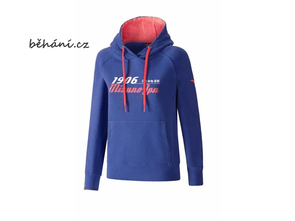 Mikina Mizuno Heritage Hoody K2EC675527 (Velikost textilu XS)