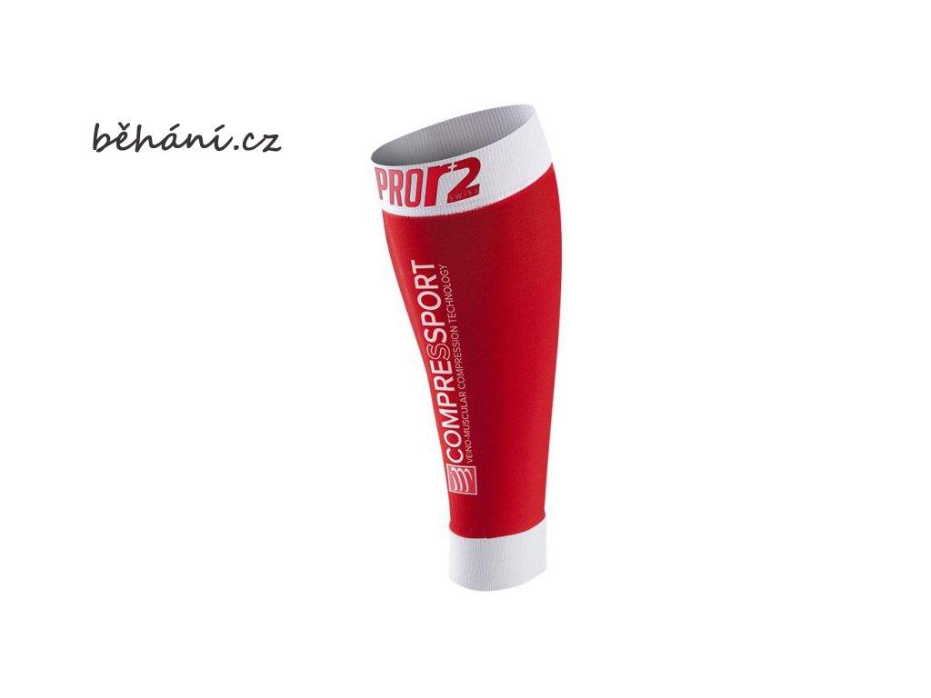 Kompresní lýtkové návleky Compressport R2 SWISS - červené (Velikost 42-46 cm obvod lýtka)