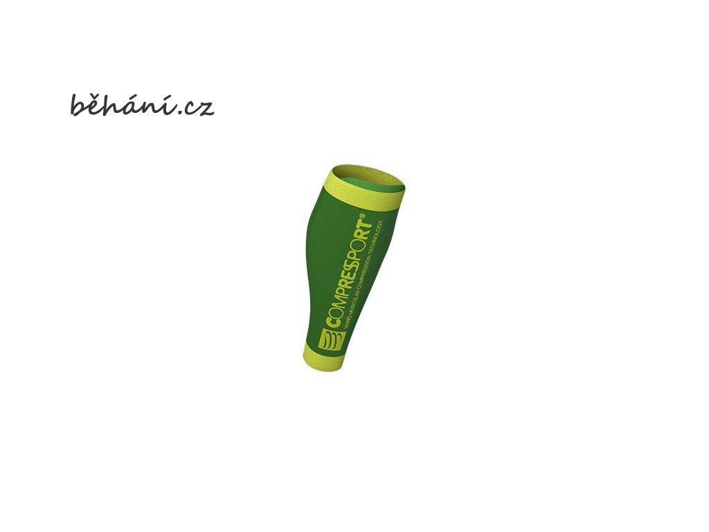 Kompresní lýtkové návleky Compressport R2 V2 - zelené (Velikost 42-46 cm obvod lýtka)