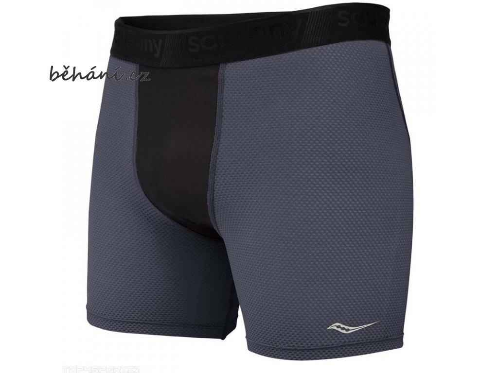 Běžecké šortky Saucony Isofit compression Boxxer Brief/Carbon (Velikost textilu XXL)