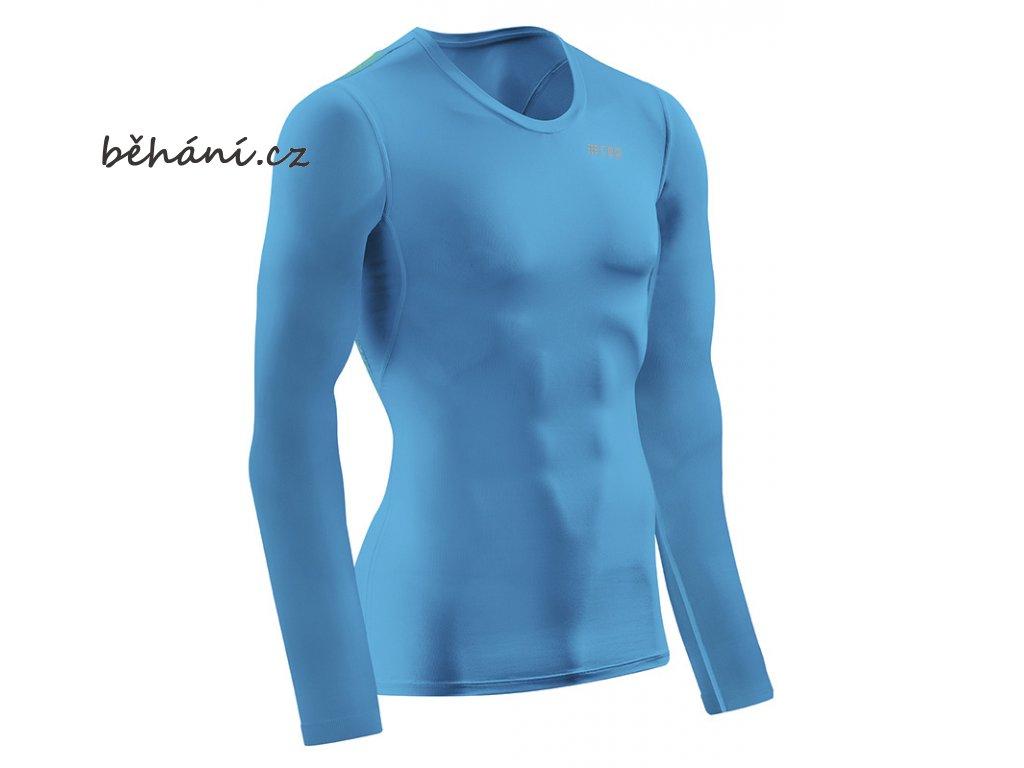 CEP wingtech shirt longsleeve electricbluegreen W66DN6 m front 72dpi
