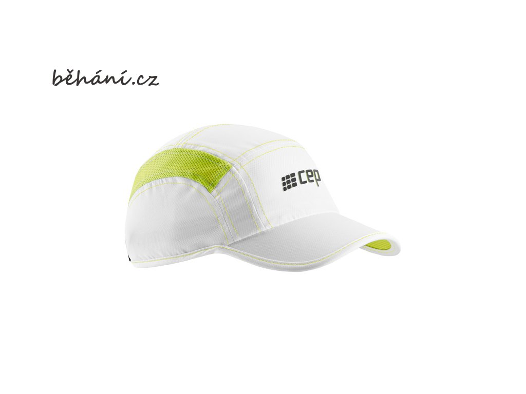 CEP brand collection run cap white limegreen uni WZ16T4