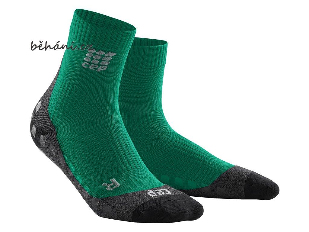 CEP griptech short socks green WP5BG7 m WP4BG7 w pair