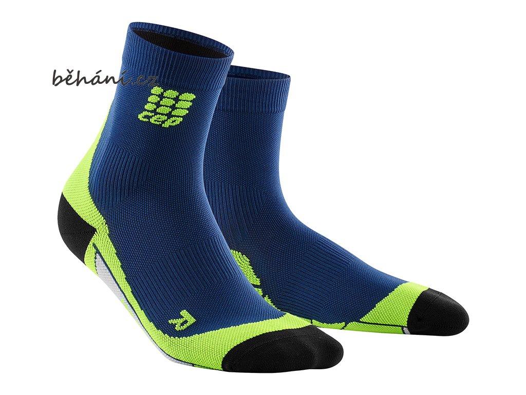 CEP dámské krátké běžecké kompresní ponožky - oceánová modř   zelená ... b5a876a186