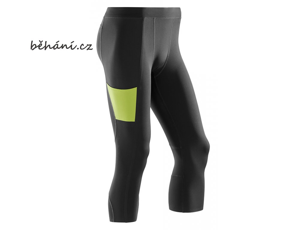 CEP Performance 3 4 Tights black lime W788UC m front