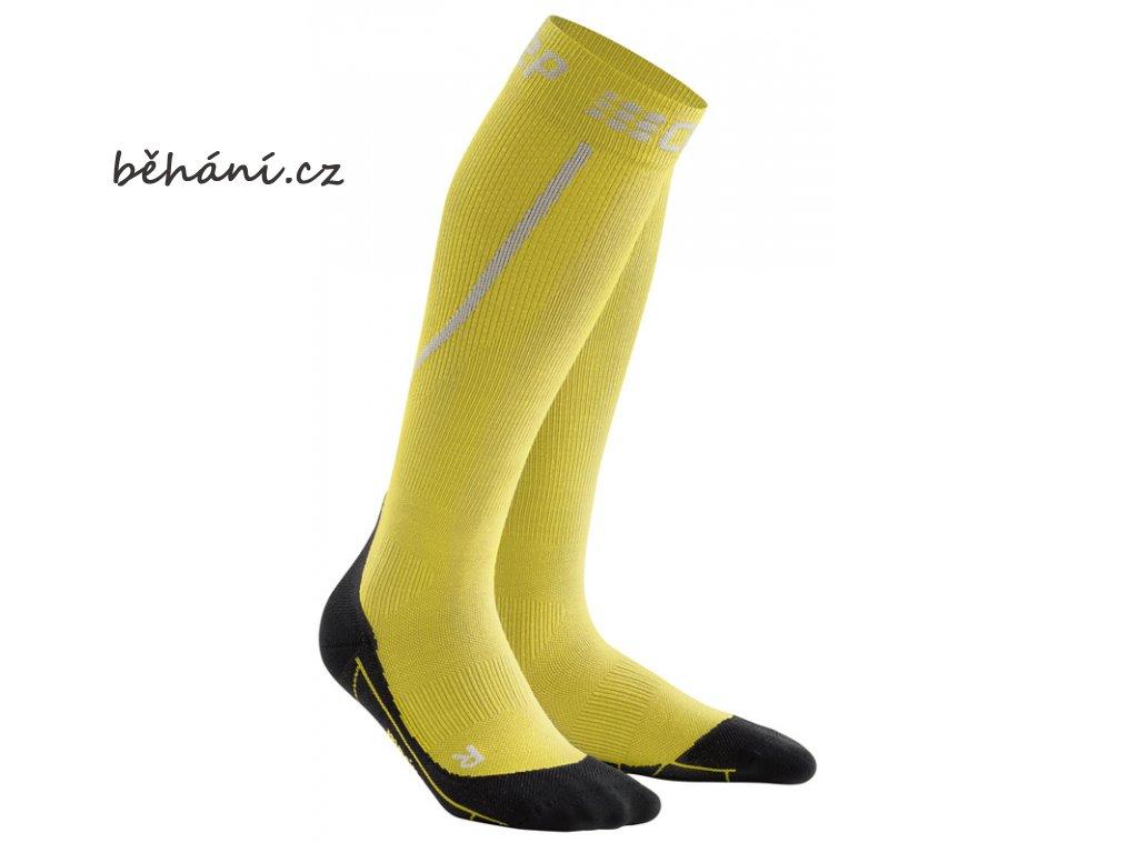 Winter Run Socks yellow black WP50GU m WP40GU w pair