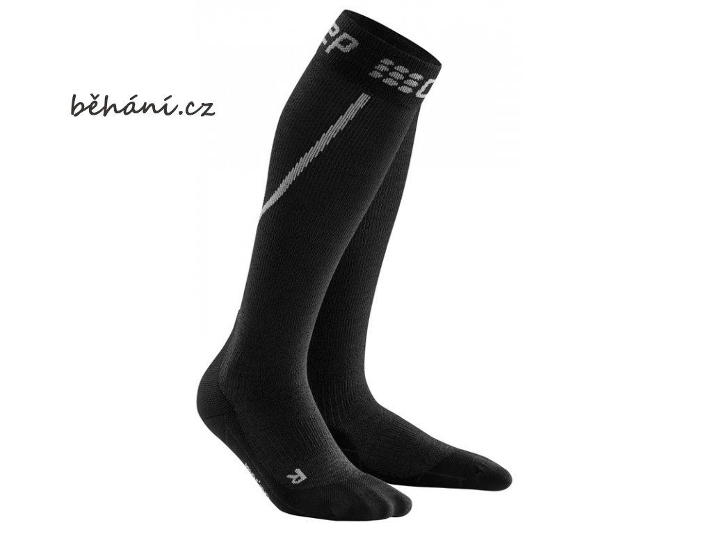 Winter Run Socks grey black WP50TU m WP40TU w pair