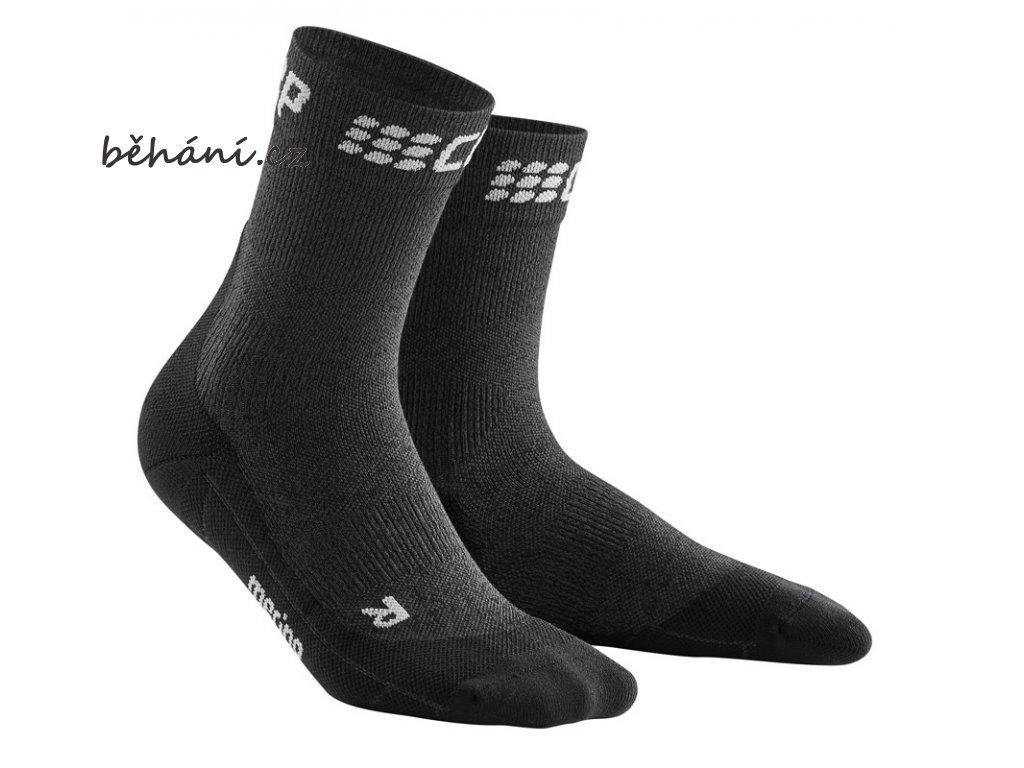 Winter Run Mid Cut Socks grey black WP5CTU m WP4CTU w pair