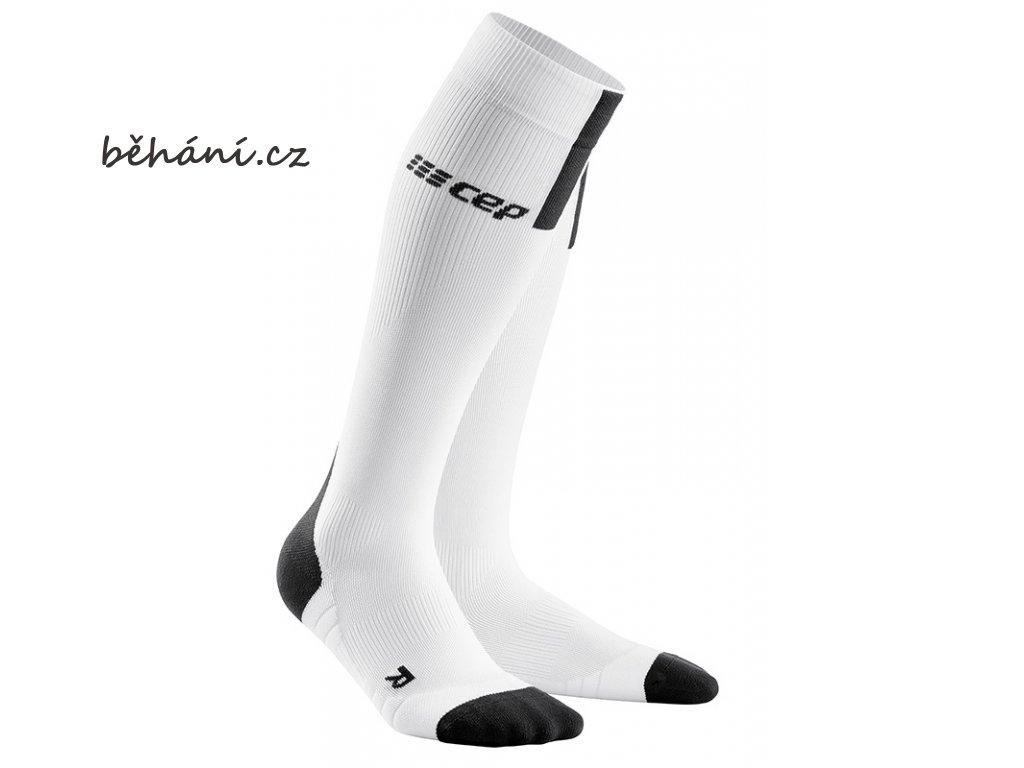 Run Compression Socks 3.0 white dark grey WP508X m WP408X w pair front