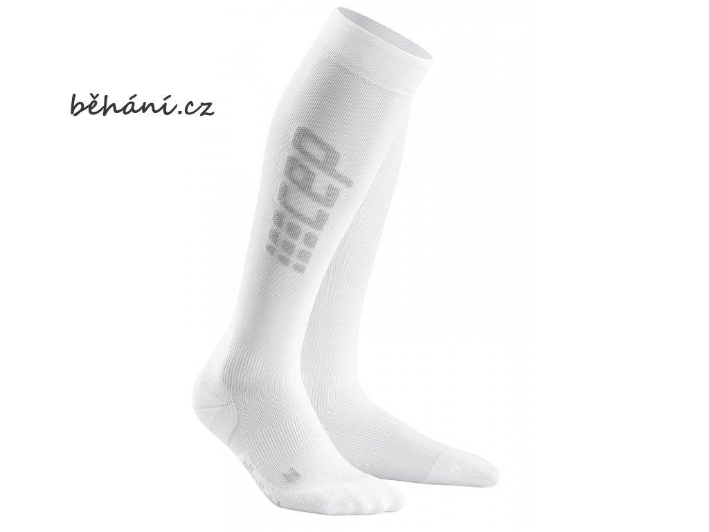 Run Ultralight Compression Socks white grey WP558C m WP458C w pair front