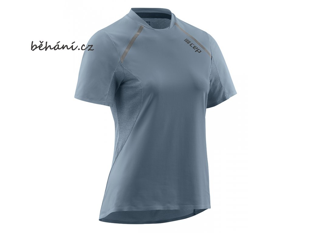 Run Shirt Short Sleeve grey W9A325 w front