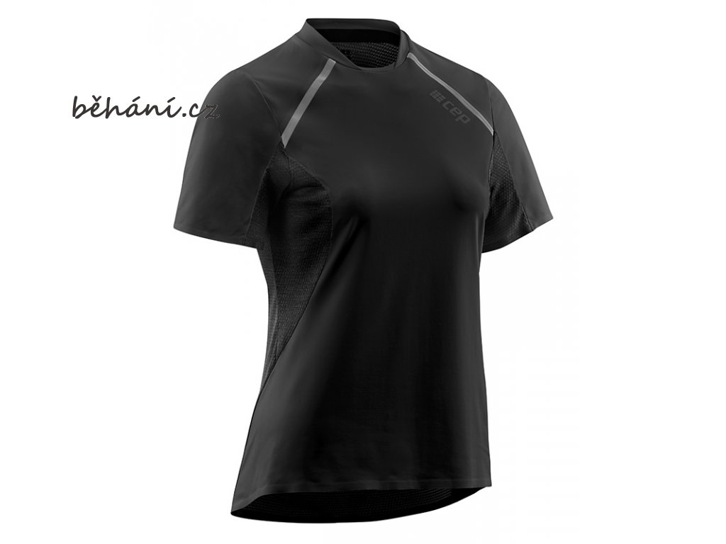 Run Shirt Short Sleeve black W9A355 w front