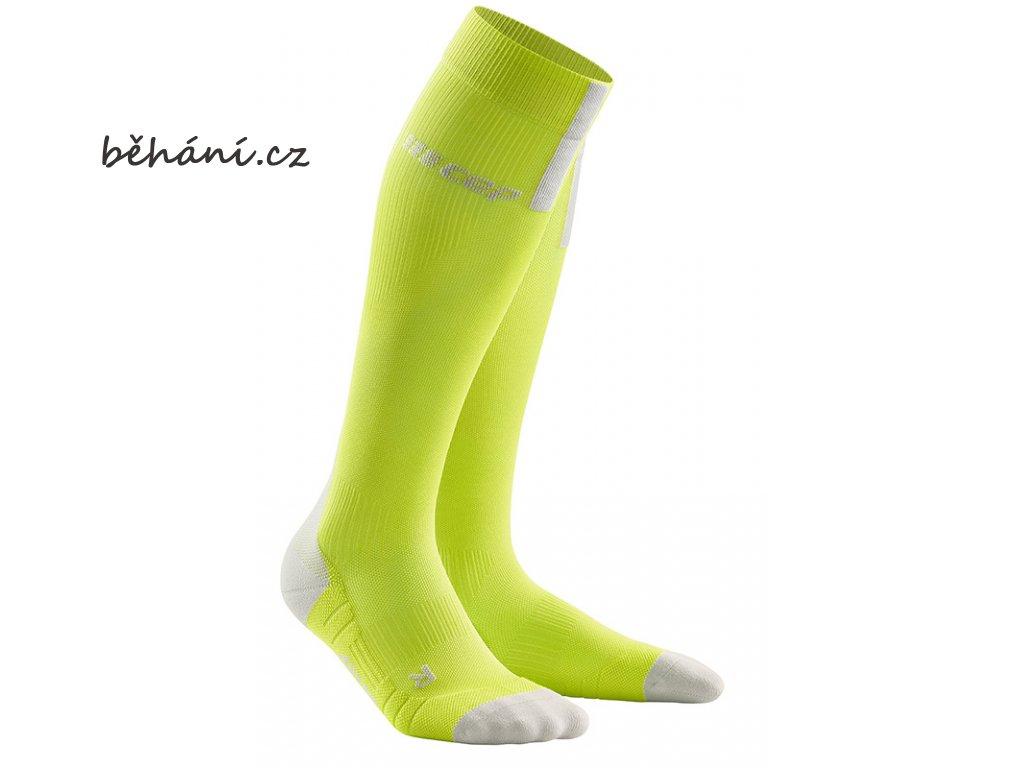 Run Compression Socks 3.0 lime light grey WP50EX m WP40EX w pair front
