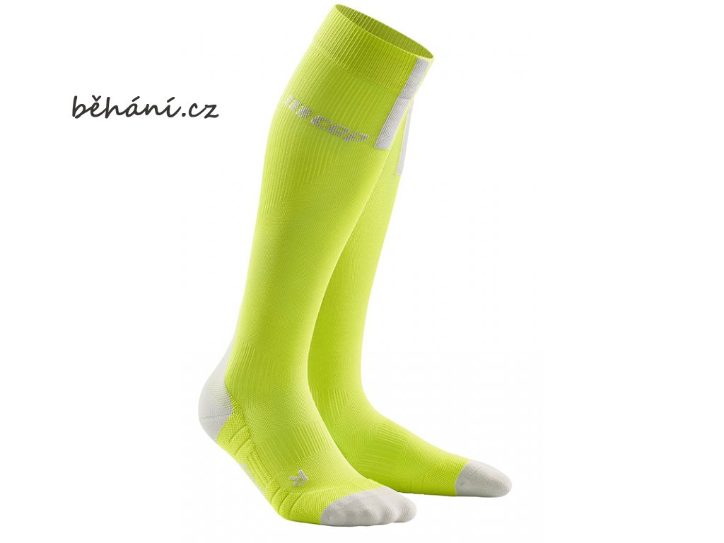 Run Compression Socks 3.0 lime light grey WP50EX m WP40EX w pair front