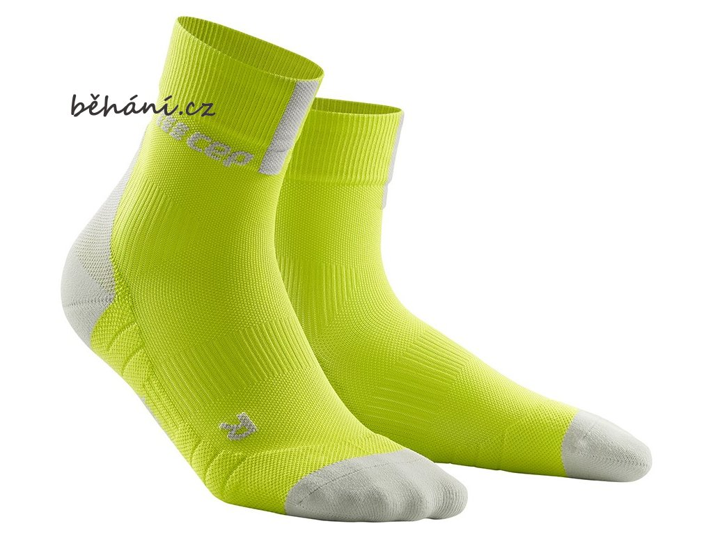 Compression Short Socks 3.0 lime light grey WP5BEX m WP4BEX w pair front