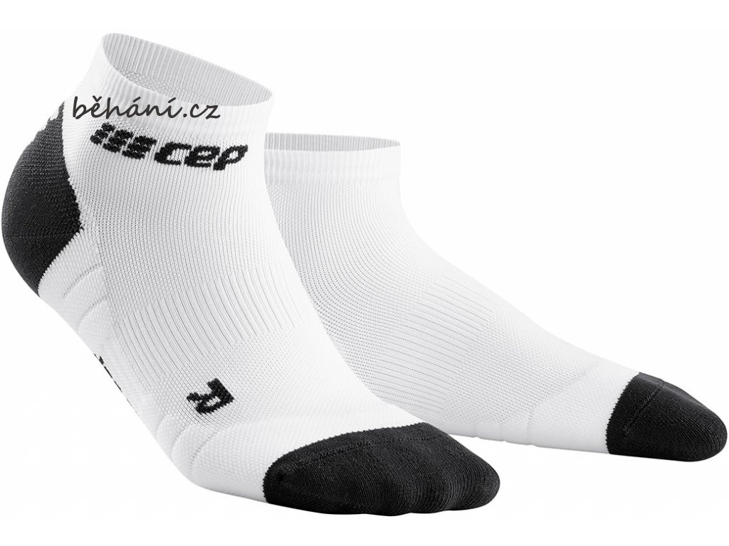 Compression Low Cut Socks 3.0 white dark grey WP5A8X m WP4A8X w pair front