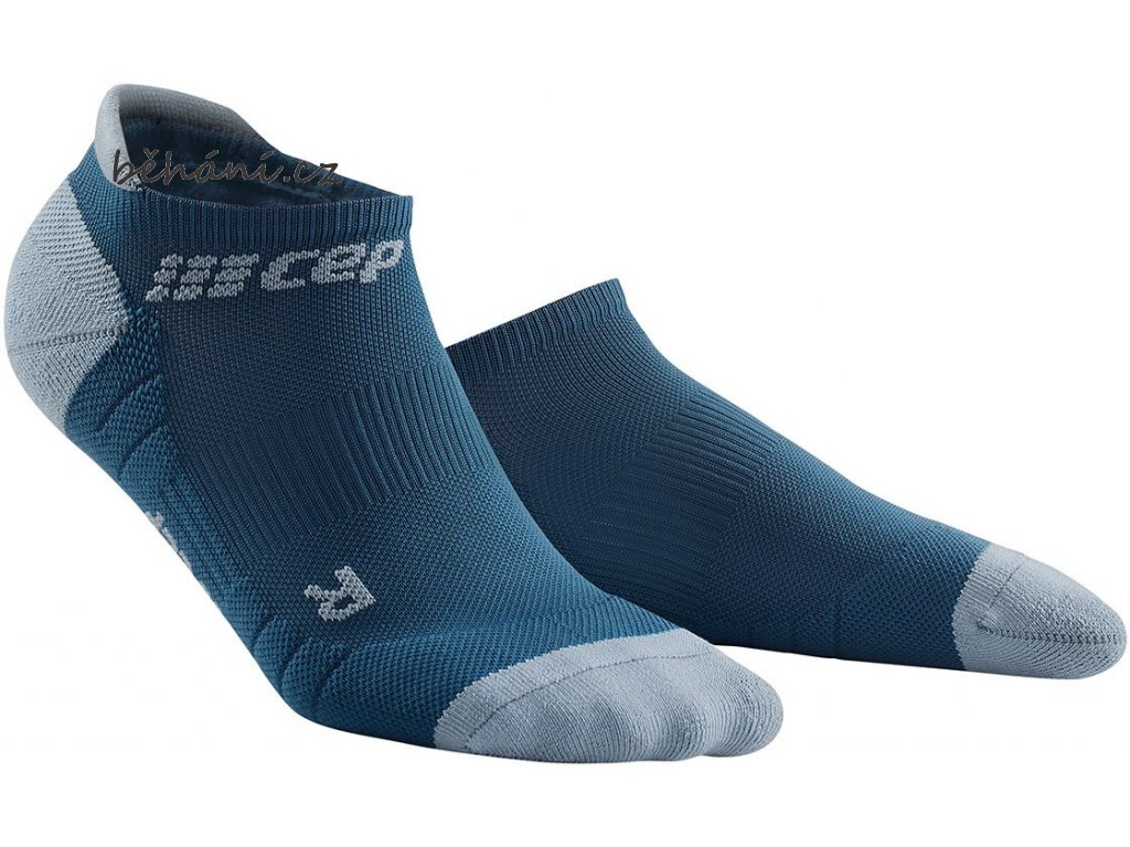 Compression No Show Socks 3.0 blue grey WP56DX m WP46DX w pair front