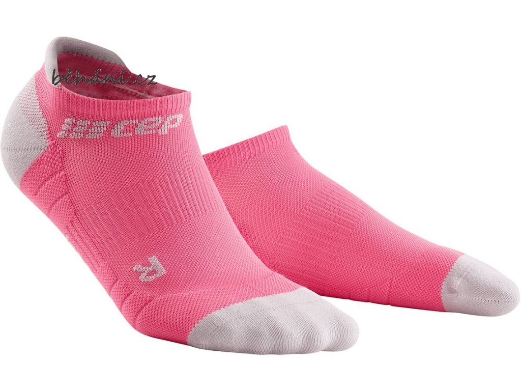 Compression No Show Socks 3.0 rose light grey WP46GX w pair front