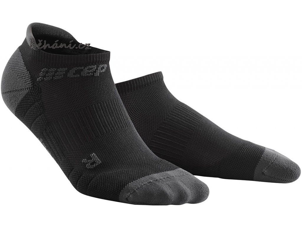 Compression No Show Socks 3.0 black dark grey WP56VX m WP46VX w pair front